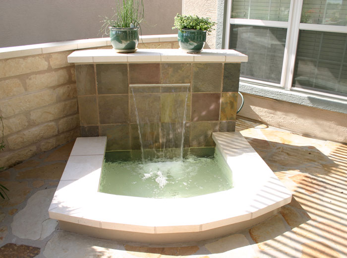 Bowman landscaping fire features for Fire pit water feature combo